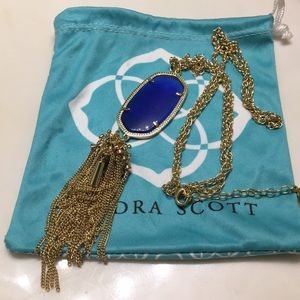 Cobalt blue Kendra Scott Rayne necklace
